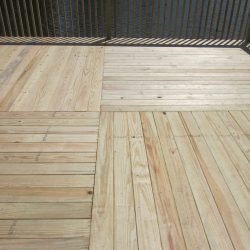A large square wooden deck - Ready Decks