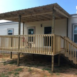 Ready deck with steps and railing