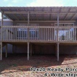 12x20 ready porch with wide steps - Ready Decks