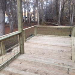 A deck with railing and view of the yard - Ready Decks