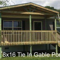 8x16 tie in gable porch - Ready Decks