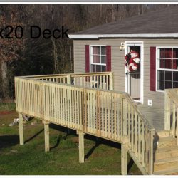 A home with a raised deck and stairs - Ready Decks