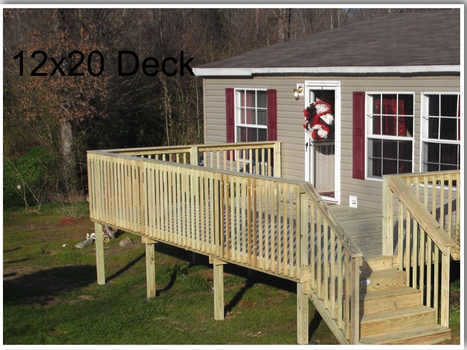 Deck For Mobile Home Deck Installer Deck Building
