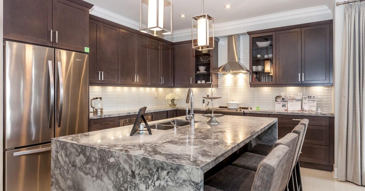 beautiful staged kitchen