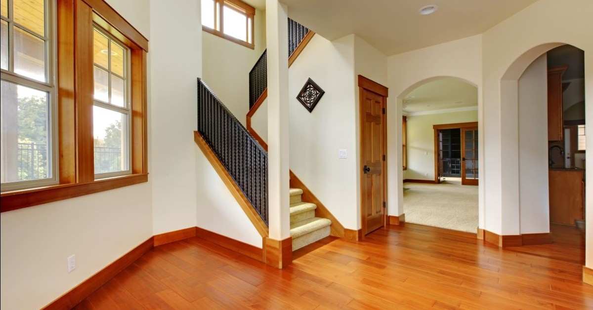 home entryway and stairway
