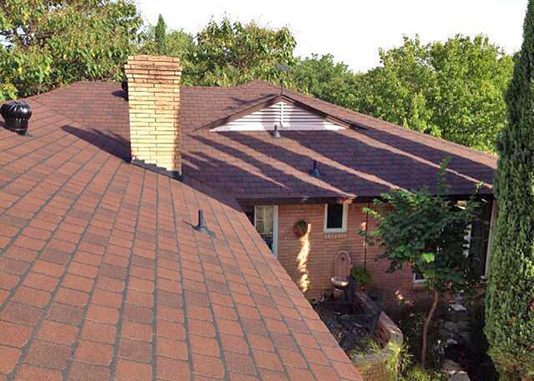 Rebuild Texas installs Saddle Brown roofs in Texas.