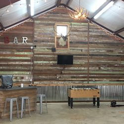 Reclaimed Wood Walls in Warehouse