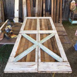 Reclaimed Wood Double Door