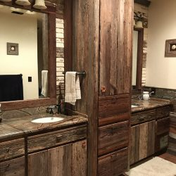 Repurposed Wood Bathroom Cabinets
