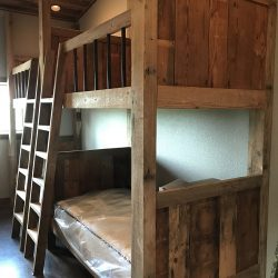 Repurposed Wood Bunk Beds