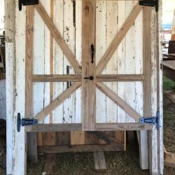 Reclaimed Wood Swinging Doors