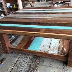 Large Reclaimed Wood Workbench