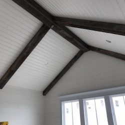 Reclaimed Wood Rafters and Ridge Board