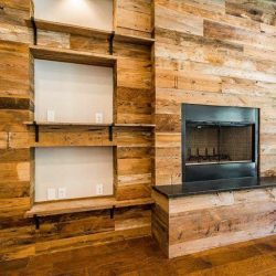 Reclaimed Wood Wall Renovation in Living Room