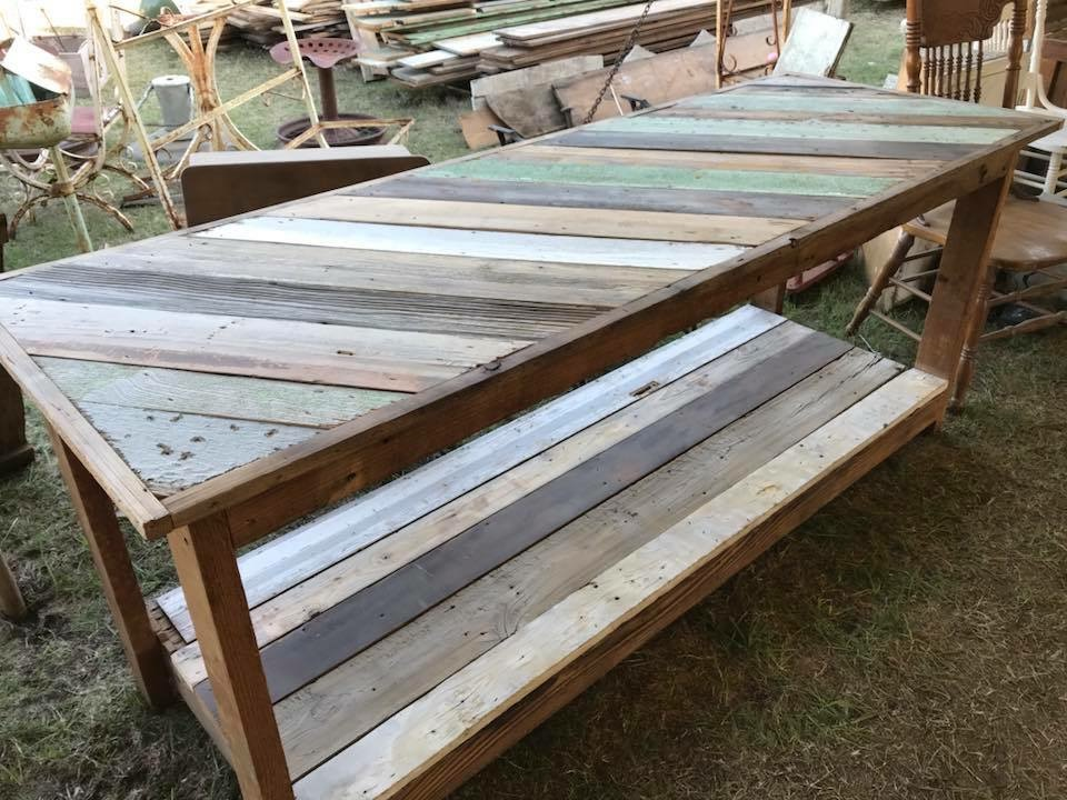 Reclaimed Wood Work Bench