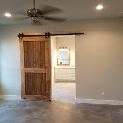 Sliding Barn Door With Reclaimed Wood