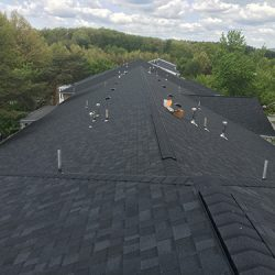 New Installation of Black Asphalt Shingles