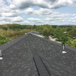 Black Asphalt Roofing Shingles and Cap