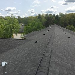 View of Newly Installed Roofing Shingles