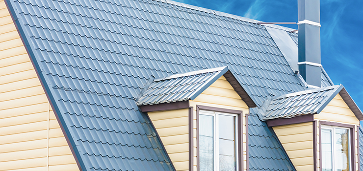 Metal Roofing on Modern Home