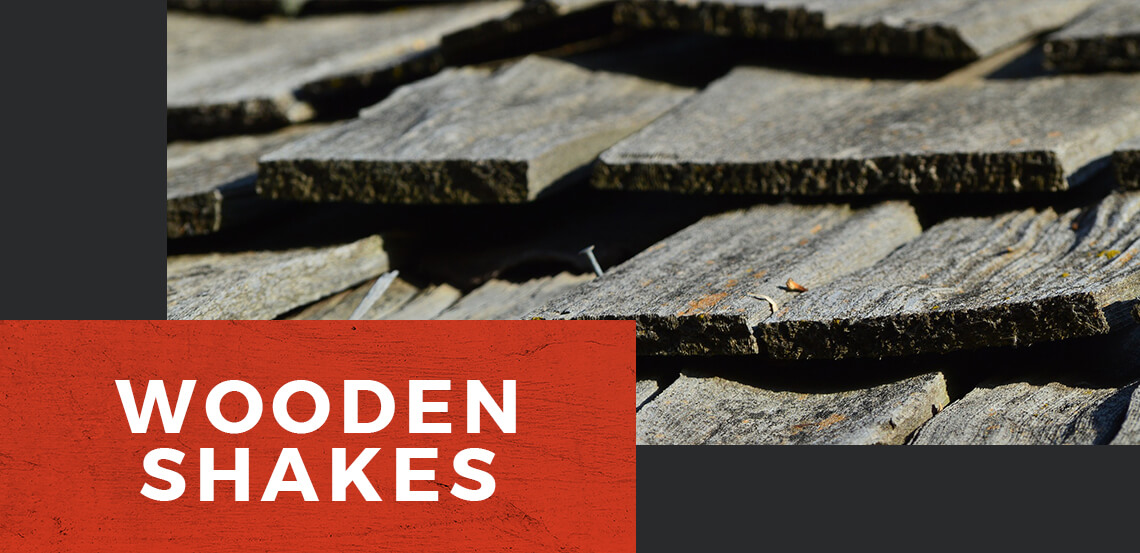 Wood Shake Roofing Banner