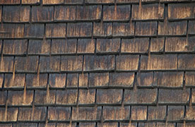 Weathered Wood Shake Roof