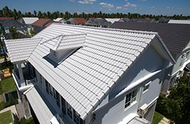 Light Grey Composite Roof Installation