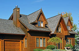 Wood Home With Shake Roofing