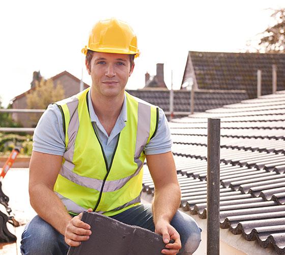 Roofer at Job Site