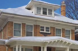 Snow on Roof Awning