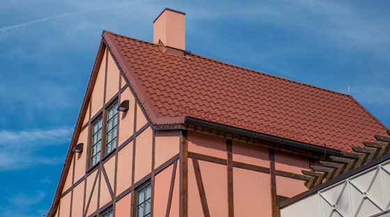 Tudor Building With Composite Roof