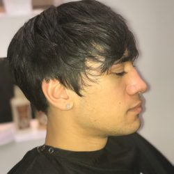 medium length haircut side view Refine Men's Salon Scottsdale