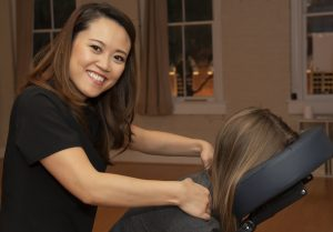 Chair Massage is a great quick help for tight shoulders