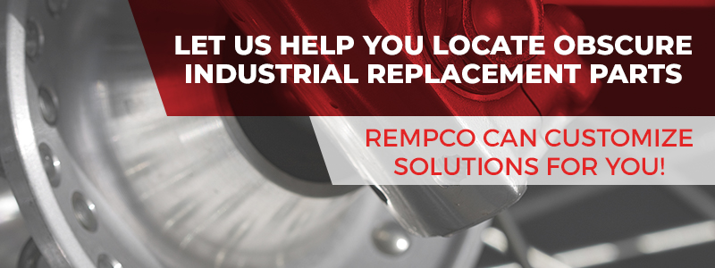 Call to action button for help with locating industrial replacement parts.