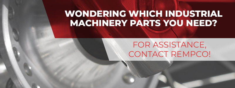 Call to action button for finding industrial machinery replacement parts.
