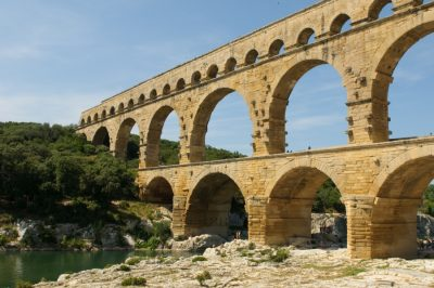 Image of several arches over a river