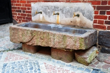 Image of an old stone sink