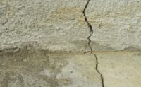 Image of a crack in slab concrete