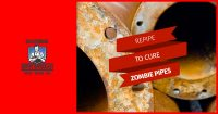 Bold image of repipe to cure zombie pipes