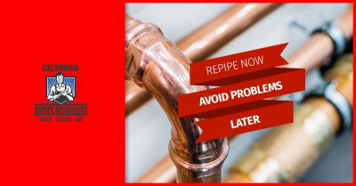 Bold image of repipe now avoid problems later