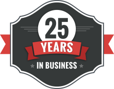 Graphic of 25 Years in Business