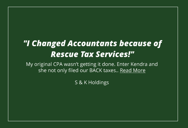 Rescue Business Tax Services - Your Top Rated Local® Master