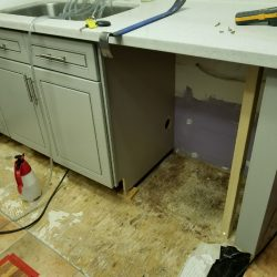 water damage remediation in apartment