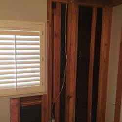 water damage repair in closet