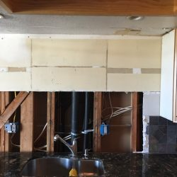 water remediation in kitchen