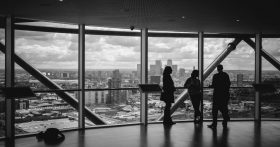 Photo of people standing in an office building by Charles Forerunner on Unsplash