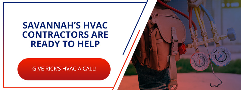 Call to action for hiring HVAC contractors in Savannah.