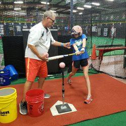 Softball training instruction
