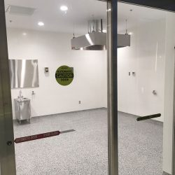 image of washroom at Durham College Brew Laboratory