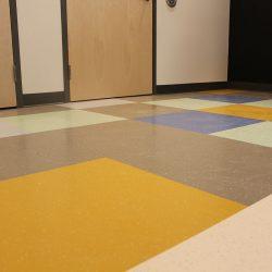 image of classroom floor